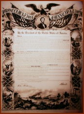 Emancipation Proclamation (public domain photo courtesy of Wikipedia)