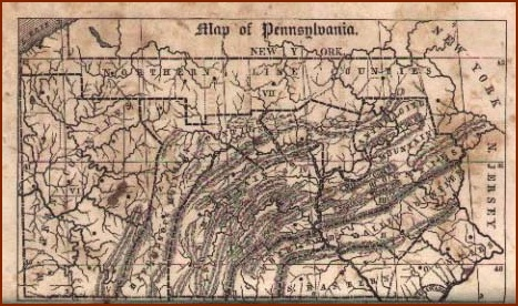 1846 Pennsylvania courtesy of www.mapsofpa.com