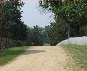 Flag on Distant Path — © 2008 America In Context