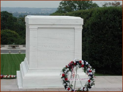 Tomb of the Unknowns — public domain photo courtesy of Arlington National Cemetery