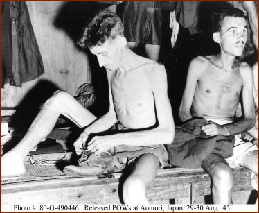 Freed WWII Prisoners — courtesy of Naval Historical Center
