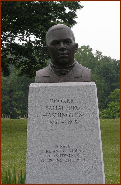 Image result for booker t washington monument charlottesville va