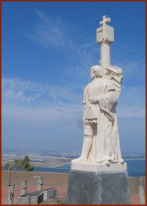 Statue of Juan Rodriguez Cabrillo courtesy of Wikipedia