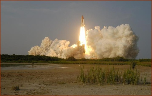 Shuttle Endeavour Liftoff -- Public domain photo courtesy of Kennedy Space Center