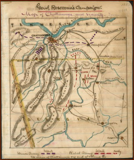 Chattanooga Battle Map