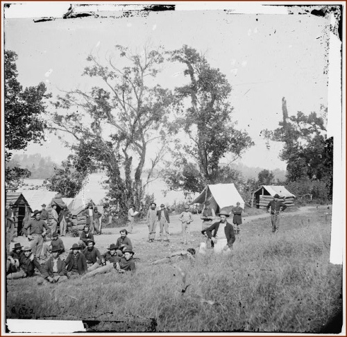 Federal Camp by Tennessee River