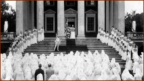 Red Cross Initiation Ceremony -- Public Domain Photo Courtesy of Wikipedia